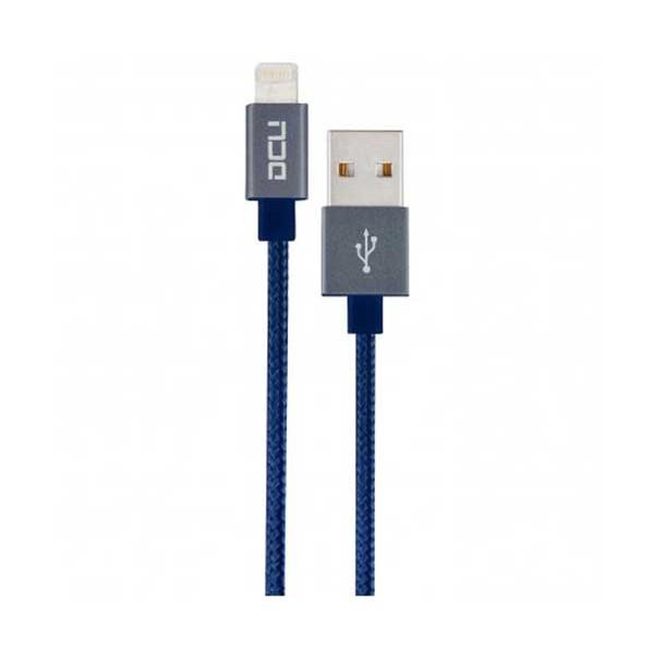 Dcu cable azul lightning para iphone, ipad e ipod a usb 2 metros