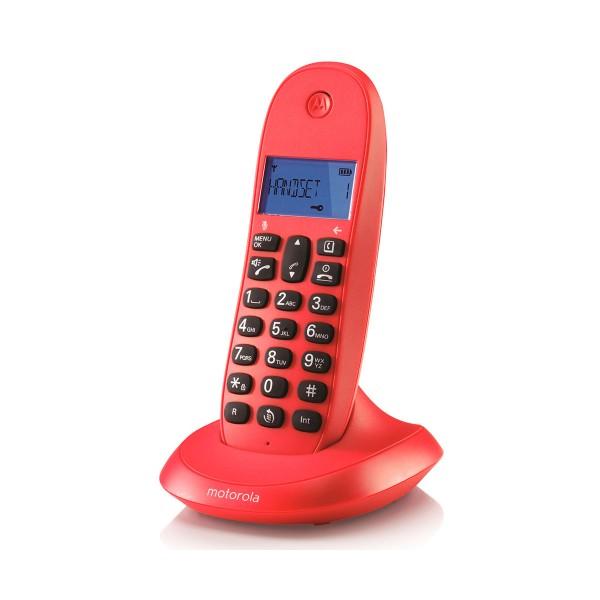 Motorola c1001lb+ cereza teléfono inalámbrico con manos libres integrado