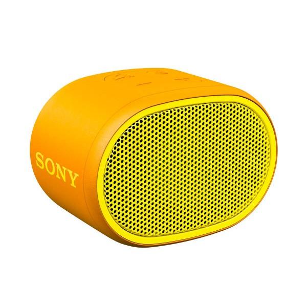 Sony srs-xb01 amarillo altavoz inalámbrico bluetooth aux micrófono extra bass y resistente al agua