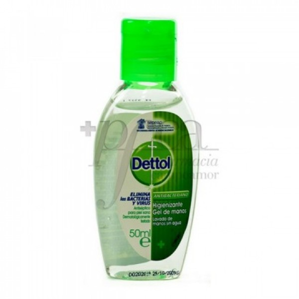 DETTOL GEL DE MANOS ANTIBACTERIANO 50 ML
