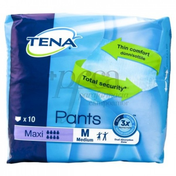 TENA PANTS MAXI TALLA M 10 U