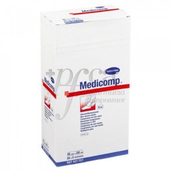 MEDICOMP ESTERIL GASA NON WOVEN 10X20CM 25X 2U
