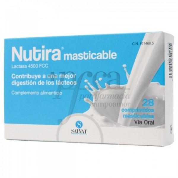NUTIRA LACTASA 4500 FCC 28 COMP MASTICAB