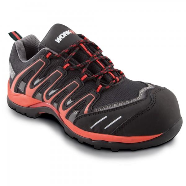 Zapato seg. workfit trail rojo n.40