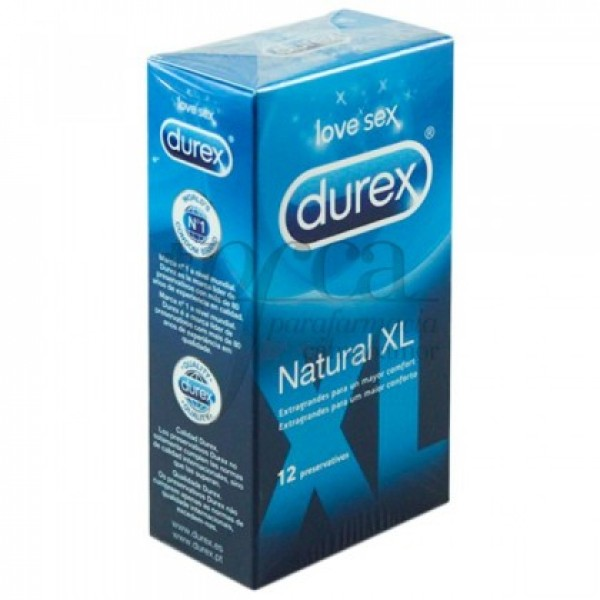 DUREX  NATURAL XL 12 PRESERVATIVOS