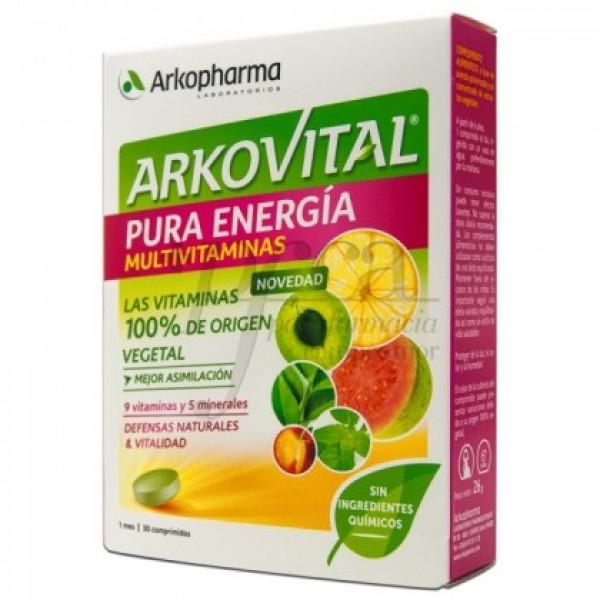 ARKOVITAL PURA ENERGIA MULTIVITAMINAS 30 COMP
