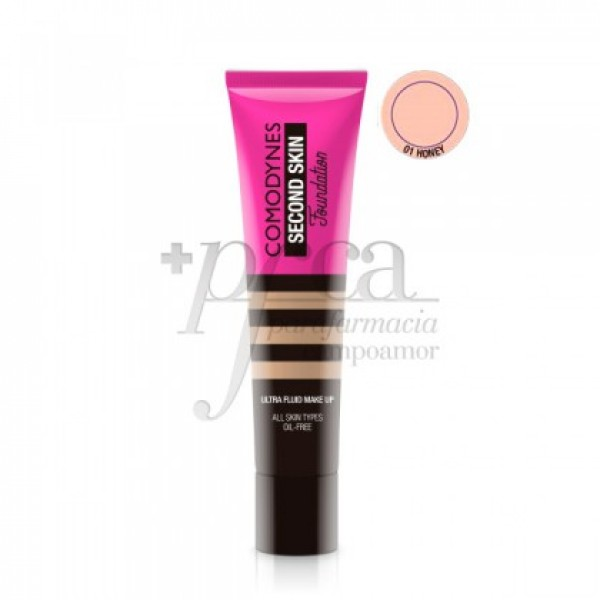 COMODYNES SECOND SKIN MAQUILLAJE FLUIDO 01 HONEY