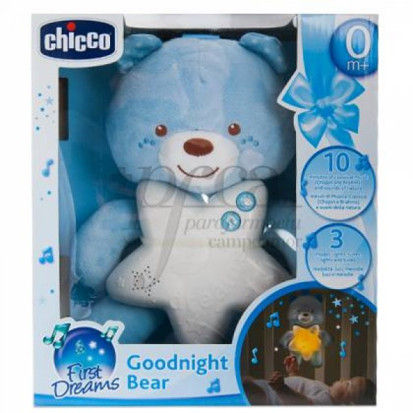 CHICCO GOODNIGHT BEAR FIRST DREAMS AZUL