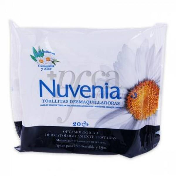 NUVENIA TOALLITAS DESMAQUILLADORAS 20 U