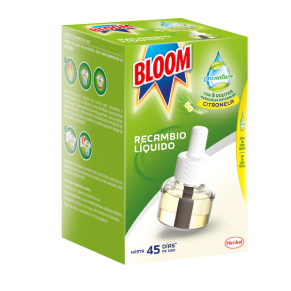 Bloom insecticida Pronature líquido Citronela 1 recambio