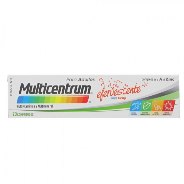 MULTICENTRUM EFERVESCENTE 20 COMPS