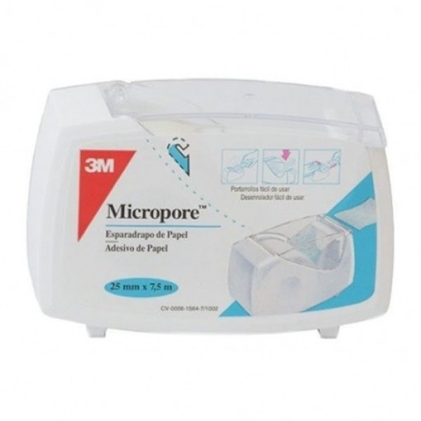 3M MICROPORE BLANCO 25 MM X 7,5 M PORTARROLLOS